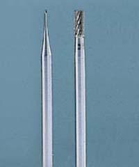2 Carbide Burrs dia 0,5mm + 1,8mm