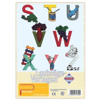 """Laubsägevorlage """"Buchstaben S - Z"""""""