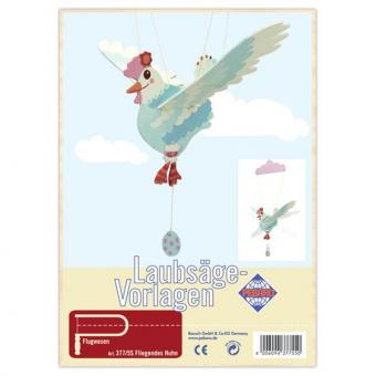 "Laubsägevorlage ""Fliegendes Huhn"""