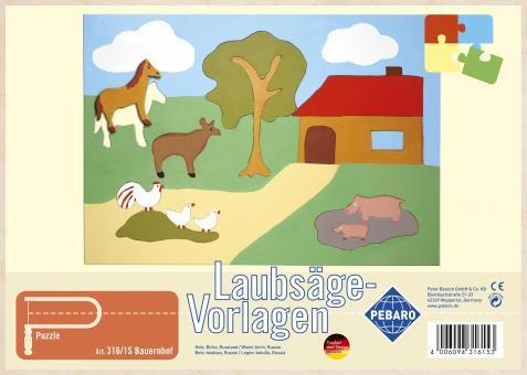 """Laubsägevorlage """"Bauernhof"""""""