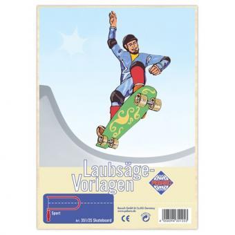 "Laubsägevorlage ""Skateboard"""