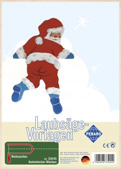 "Laubsägevorlage ""Kantenhocker Nikolaus"""