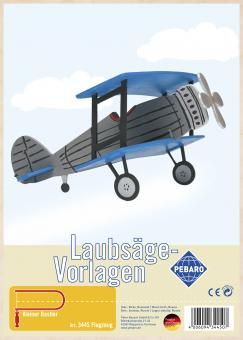 "Laubsägevorlage ""Flugzeug"""