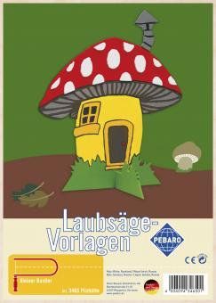 """Laubsägevorlage """"Pilzhütte"""""""