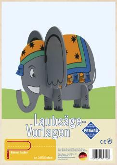 """Laubsägevorlage """"Elefant"""""""