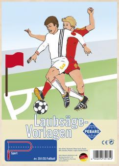 """Laubsägevorlage """"Fußball"""""""