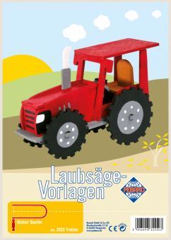 "Laubsägevorlage ""Traktor"""
