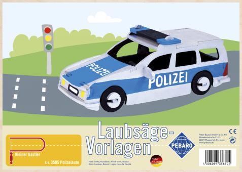 """Laubsägevorlage """"Polizeiauto"""""""