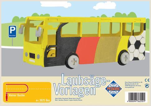 """Laubsägevorlage """"Bus"""""""