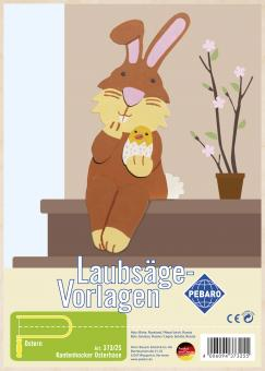 "Laubsägevorlage ""Kantenhocker Osterhase"""