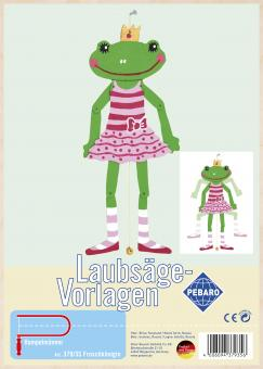"""Laubsägevorlage """"Froschkönigin"""""""