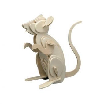 Holzbausatz Maus
