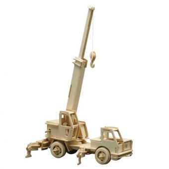 Holzbausatz Kranwagen