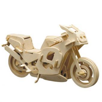 Holzbausatz Renn-Motorrad