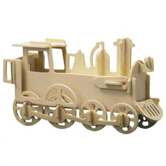 Holzbausatz Lokomotive