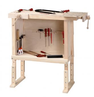 Workbench with Large Storage Shelf