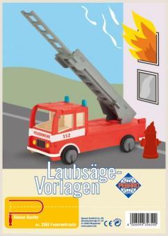 """Laubsägevorlage """"Feuerwehrauto"""""""