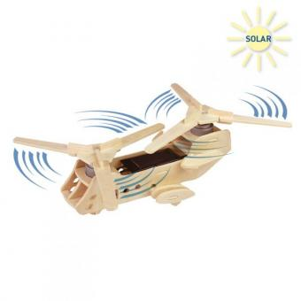 Solar Woodconstruction Military Helicopter