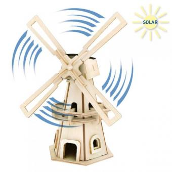 Solar Woodconstruction Windmill