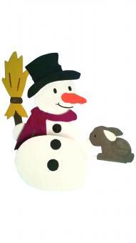 Woodconstruction Shelf sitter snowman