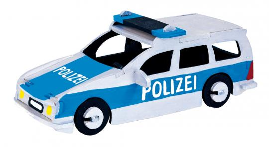 Woodconstruction Police Car