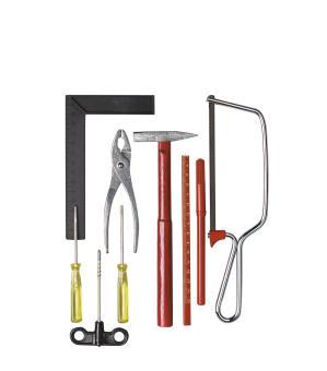 Werkzeug-Set in Polybeutel, 9 Teile