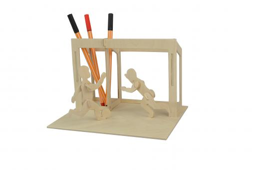 Woodconstruction penholder Soccer